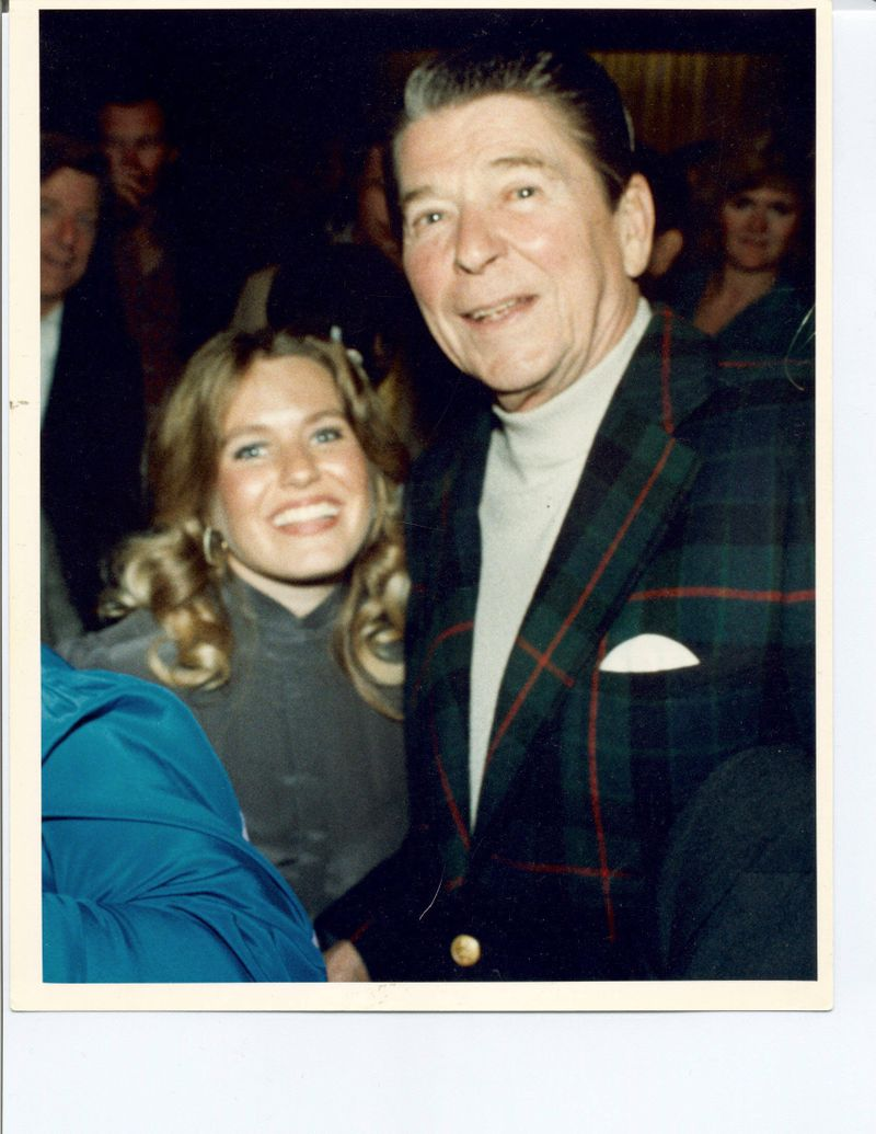 Charlotte Laws & President Ronald Reagan at Walter Annenberg Party in mid-1980's
