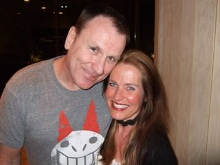 Colin Quinn and Charlotte Laws in Palm Desert